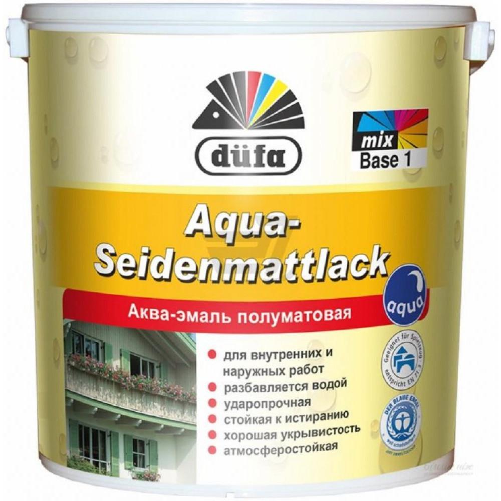 Аква-эмаль полуматовая Dufa Aqua-Seidenmattlack