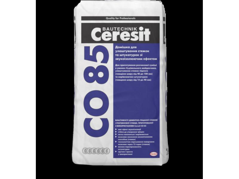 Добавка для изготовления стяжек со звукоизоляционным эффектом Ceresit CO 85 25кг
