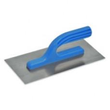 Гладилка нержавеющая с пластмассовой ручкой 125x270 мм, гладкая