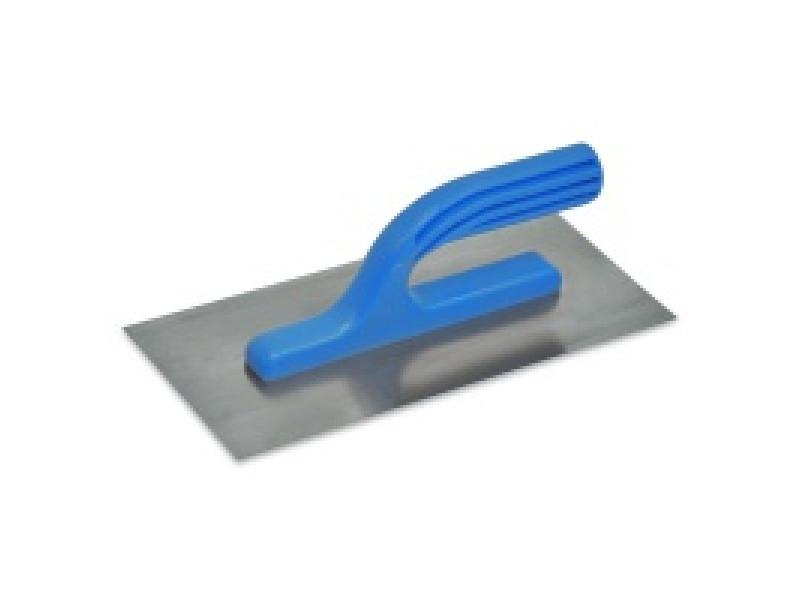 Гладилка нержавеющая с пластмассовой ручкой 125х270 мм, зуб 4x4 мм