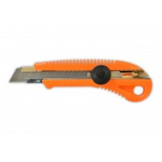 Нож с крутящимся фиксатором упрочненный 18 мм