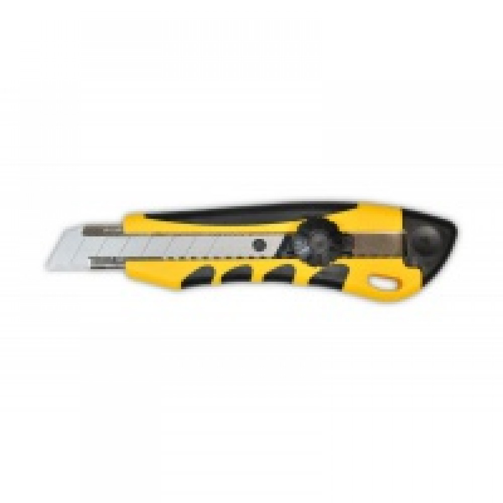 Нож с крутящимся фиксатором упрочненный универсальный 18 мм