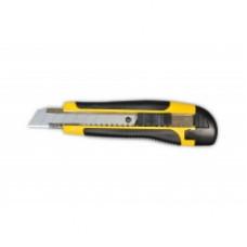 Нож упрочненный, обрезиненная ручка 18 мм