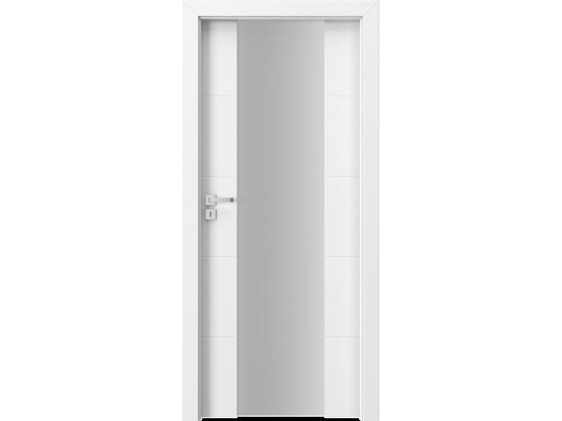 Полностью остекленное полотно FOCUS Premium 4.D c фрезеровкой