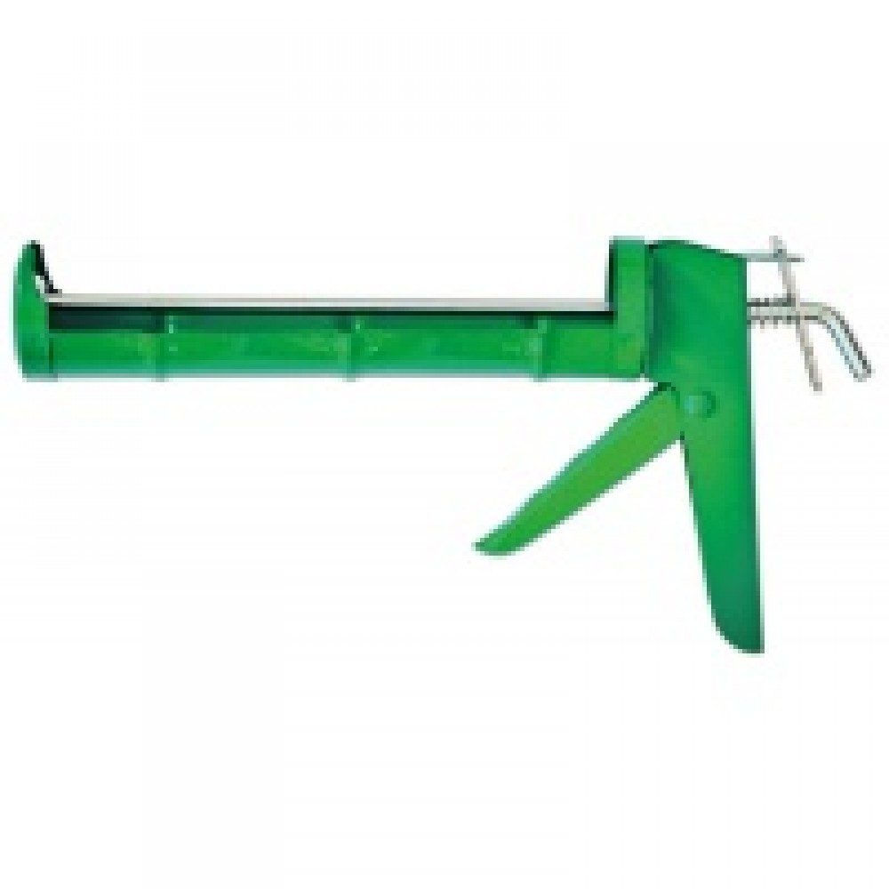 Пистолет для герметика. Металлический полуоткрытый корпус