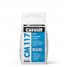 Эластичная клеящая смесь для натурального камня Ceresit CM 117 Flex