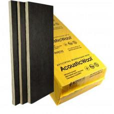 AcousticWool Sonet P, 80 кг/м3, акустическая минеральная вата, кашированная стеклохолстом черного цвета, (4,2 м2/упак.)