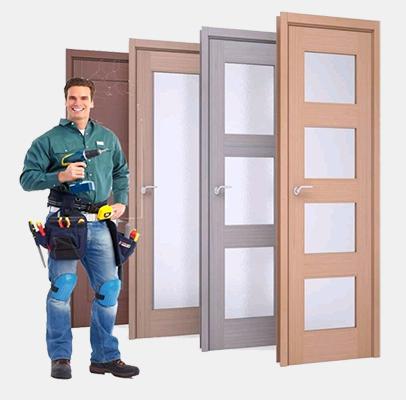 Монтаж дверных блоков